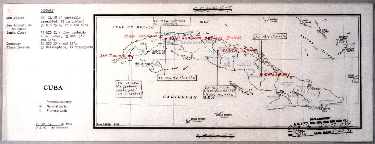 Cuban Missile Crisis John F Kennedy Presidential Library Museum - Map of cuba and southeast us